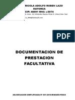 Documentacion de Prestacion Facultativa