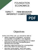 Foundation Economics Lecture 7