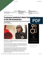Costume Institute's Next Subject Said to Be Rei Kawakubo – WWD
