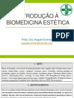 1. Introdução À Biomedicina Estética..