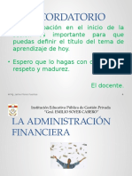 Administración Financiera y Estados Financieros