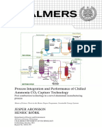Process Integration and Performance of Chilled Ammonia CO2 Capture Technology