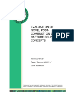 Evaluation of Novel Post- Combustion Co2 Capture Solvent Concepts