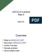 Abaqus Lecture 2
