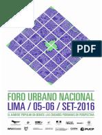 Foro urbano nacional 2016