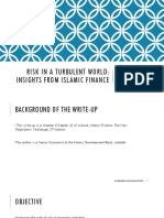 Risk in a Turbulent World Insights From Islamic Finance