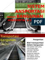 transportasi horizontal pada bangunan