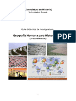 Geografia Humana Historia