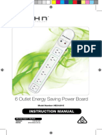Bauhn 6 Outlet Energy Saving Power Board Manual HE214015