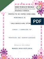Proyecto Expresion Oral Carla