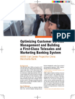 Optimizing Customer Service Management and Building a First-Class Telesales and Marketing Banking System