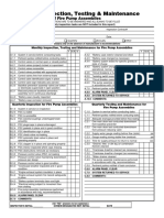Inspection Form for Fire Pump