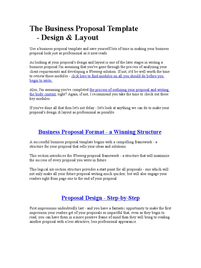 The business proposal template typefaces serif flashek Choice Image