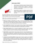 Cinco Propósitos Financieros Para El 2015