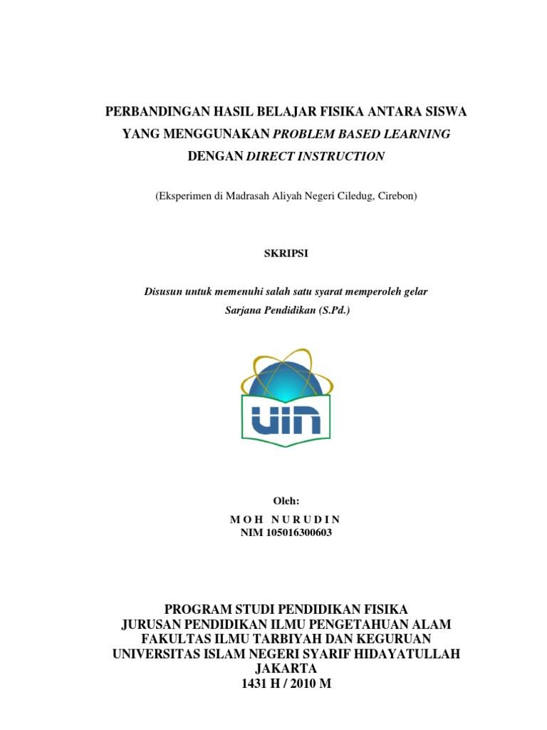 Skripsi Moh Nurudin Pendidikan Fisika Uin Jakarta Indonesia