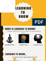 Learning to Know