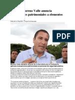 02.09.16 Moreno Valle anuncia evaluaciones patrimoniales a elementos policíacos