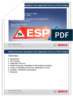 Vehicle Dynamics Simulation in the Application Process of ESP Systems