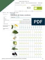 Calendario de Verduras