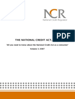 all you need to know about the national credit act as a consumer