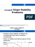 Simple Slope Stability Problems
