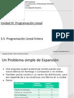 3.5 Programación Lineal Entera