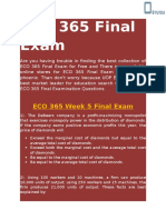 UOP E Tutors | ECO 365 Final Exam Answers Free