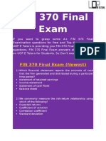 UOP E Tutors - FIN 370 Final Exam Answers Free