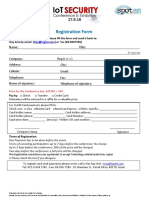 Registration Form IoT Security