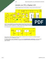 frecuencimetro Con PIC y Display LCD