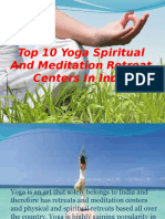 Top 10 Yoga Spiritual and Meditation Retreat Centers in India