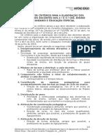 Definição de Critérios Para a Elaboração Dos Horários Dos Docentes