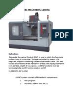CNC Machining Centre