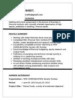 Aniketkharat resume