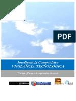 Inteligencia Competitiva. VIGILANCIA TECNOLÓGICA