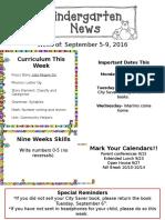 Newsletter Sept. 5
