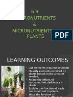 6.9 Macromicronutrients in Plants