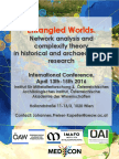 Entangled Worlds. Network Analysis and c