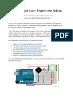 Simple Alarm Arduino