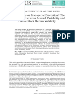 Fundamentals or Managerial Discretion
