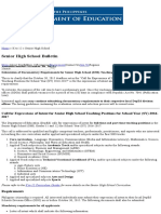 Senior High School Bulletin _ Department of Education