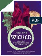 Folleto Wicked