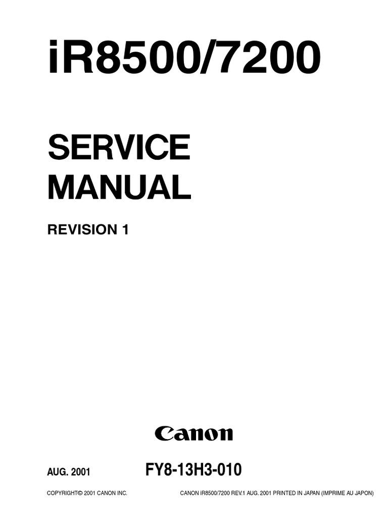 ir8500 7200 service manual pdf photocopier image scanner rh es scribd com