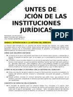 Apuntes de Todas Las Clases EVOLUCIÓN DE LAS INSTITUCIONES JURÍDICAS UDD 1 AÑO