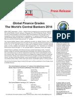 Ranking de gestión de los principales presidentes de los bancos centrales