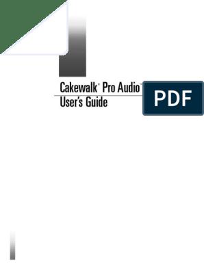 Ebook) Cakewalk 9 0 Manual pdf | Sound Technology | Sound