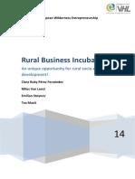 RURAL BUSINESS INCUBATOR