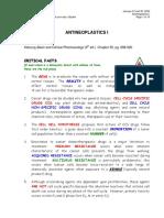 Anticancer drugs pharmacology