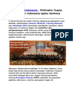 Motivator Indonesia, Motivator Super, Motivator Indonesia Ippho Santosa