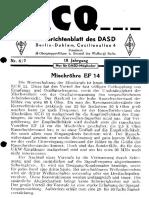 CQ DASD 1944 Heft 006 Und Heft 007